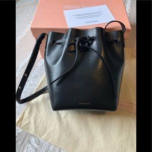 Mansur Gavriel Mini Bucket Bag Black/Blu with box